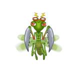 Insect Doctor Arcade Machine, Praying Mantis Bug, Arcooda