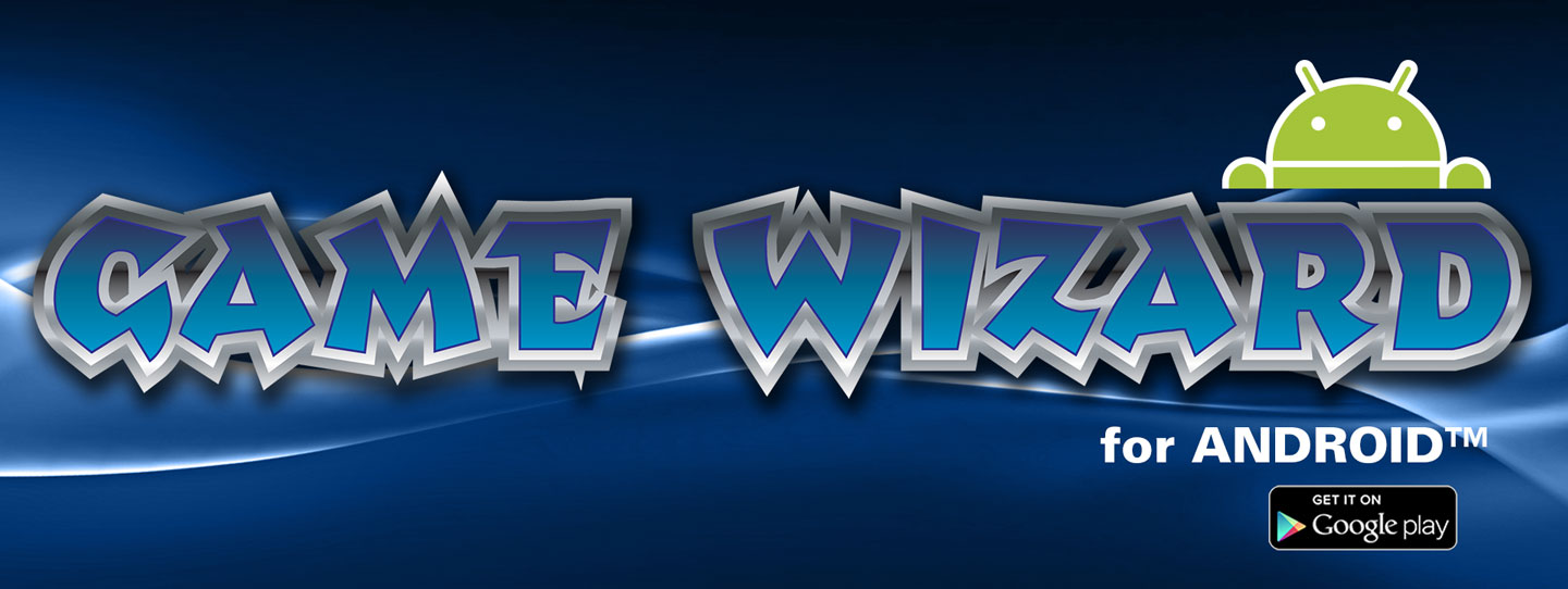 Game Wizard for Android, Arcade Machine Header, Website Header, Arcooda