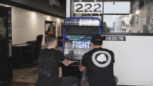 Arcooda Xtreme Game Wizard Arcade Machine, The Inksmiths Tattoo Studio, Matty, Artist, Playing