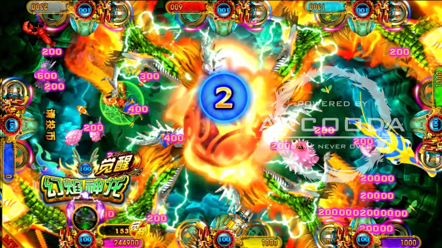 Ocean King 3 : Turtles Revenge - Flaming Dragon Power Up